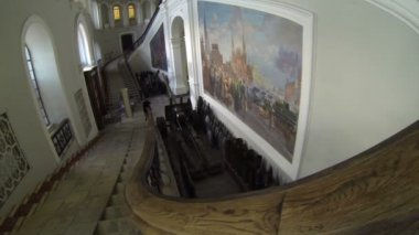 Grand Staircase. Artillery Museum In St. Petersburg. — Stock Video