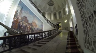 Grand Staircase. Artillery Museum In St. Petersburg. — Vídeo Stock