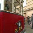 Stock Video: Tram Blockade Of Leningrad
