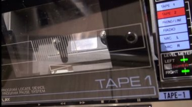 Installing A Cassette Tape Recorder. — Stock Video