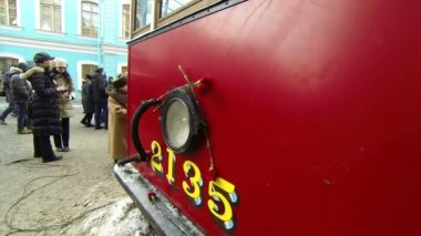 Tram Blockade Of Leningrad — Stock Video