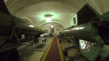 Ballistic Missile. Weapons Of The Times Of The Cold War. — Stock Video