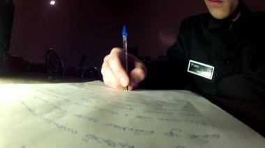 Hand writing  letter — Stock Video