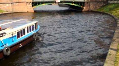 Motor boat, yacht — Stock Video