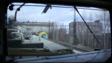 Ferrocarril de carga freigt tren — Vídeo de Stock