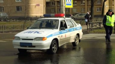 Police car — Stock Video