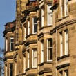 Traditional sandstone Victorian tenement housing in Scotland — Stock Photo