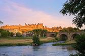 Carcassonne, France at Sunset — Stock Photo