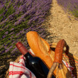 Picnic in the Lavender, Provence, France — Stock Photo