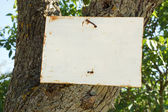 Rustic Rural Sign, Blanked for your Message — Stock Photo