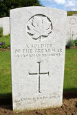 Canadian war grave from World War One — Stock Photo