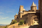 The walled fortress city of Carcassonne, southern France — Stock Photo