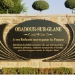 Oradour Sur Glane Memorial to the 642 who died. — Foto Stock