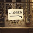 Stock Photo: Chambres or Rooms to Rent Sign, France