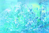 Blue background with texture of flowers — Stock Photo