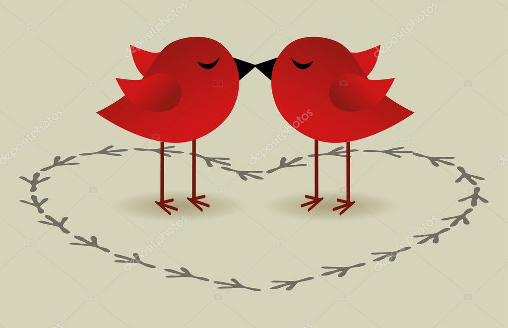 Two sweets birds — Stock Vector #18372701