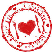 Love stamp — Vettoriale Stock