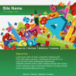 Website template - Imagens vectoriais em stock