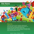 Website template - Stockvectorbeeld