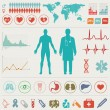 Medical Infographic set. Vector illustration. — Vettoriali Stock