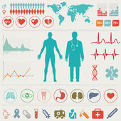 Medical Infographic set. Vector illustration. — ストックベクタ