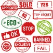 Royalty-Free Stock Vector Image: Set of vector stamps and labels