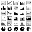 Set of diagrams and graphs vector — Stock Vector