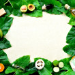 Tropical Asian spa supplies on green leaves — Stock Photo