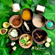 Royalty-Free Stock Photo: Spices for Asian spa.with tropical flower