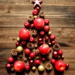Christmas tree of red apples — Stock Photo #15175835