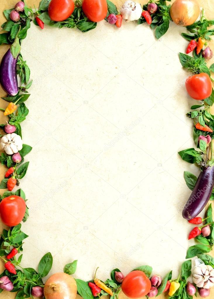 框架的蔬菜 — 图库照片