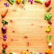 frame of colorful vegetables — Stock Photo