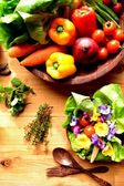 Vegetables with salad — Stock Photo
