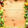 Frame of vegetables for salad — Stock Photo #18670035