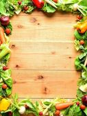 Frame of vegetables for salad — Stock Photo