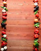 在金秋时节的新鲜 vegetables.harvest — 图库照片