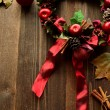 Christmas wreath with apple — Stock Photo #32060143