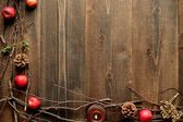 Winter fruits,candles and twigs — Stok fotoğraf