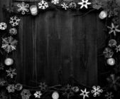 Snow flakes,candles and twigs — ストック写真