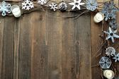 Snow flakes,candles and twigs — Foto Stock