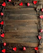 Red heart,apple and twigs.image of Valentines day — Stockfoto