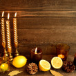 Lemon and aromcandle — Stock Photo #38124877