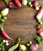 Colorful root vegetables — Stock Photo