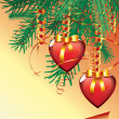 Royalty-Free Stock Vector Image: Christmas hearts