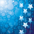 Blue background with stars - Image vectorielle