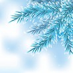 Blue christmas tree — Stock Vector