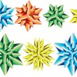 Set of multicolor bows for your gift — Vector de stock #12032892