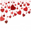 Royalty-Free Stock Vector Image: Romantic background with hearts
