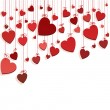 Royalty-Free Stock Imagen vectorial: Romantic background with hearts