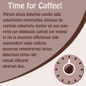 Plano de fundo com uma xícara de café — Vetorial Stock